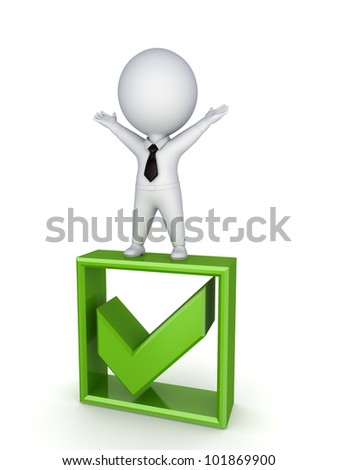 Winner concept.Isolated on white background.3d rendered. - stock photo