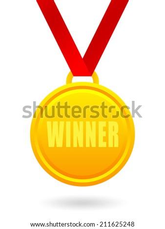 Winner golden medal - stock photo