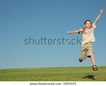 Winner kid - stock photo