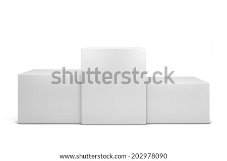 Winner podium. 3d illustration isolated on white background  - stock photo