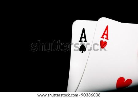 winning aces - stock photo