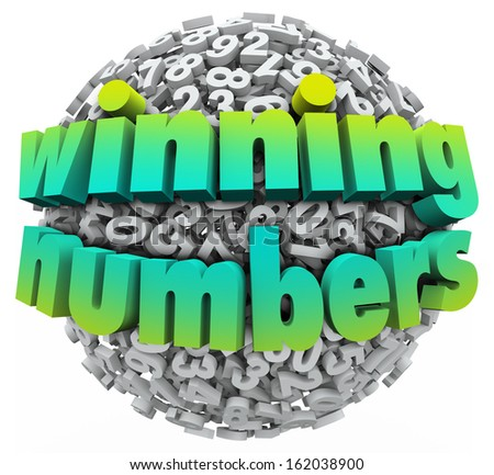 Winning Numbers Lottery Jackpot Lucky Number - stock photo