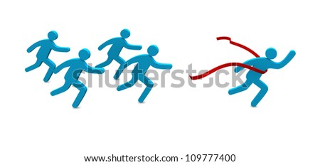Winning - three dimensional illustration on white background - stock photo