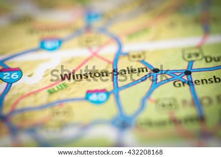Winston-Salem. USA - stock photo