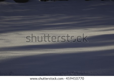 Winter abstract with shadows - stock photo