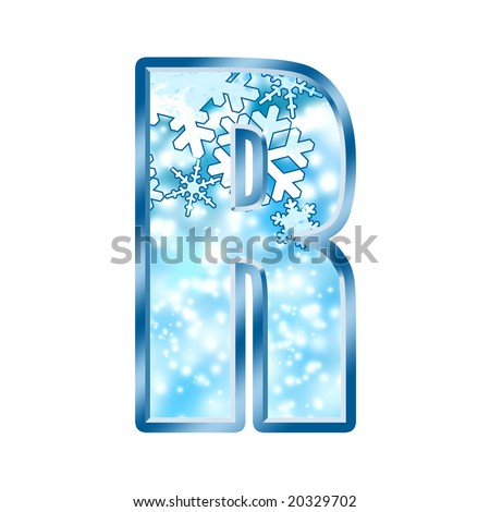 Winter Alphabet Letter R - stock photo