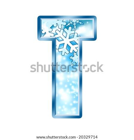 Winter Alphabet Letter T - stock photo