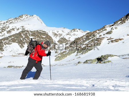 Winter alpine trekking