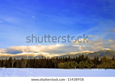 Winter at Bretton Woods, New Hampshire - stock photo