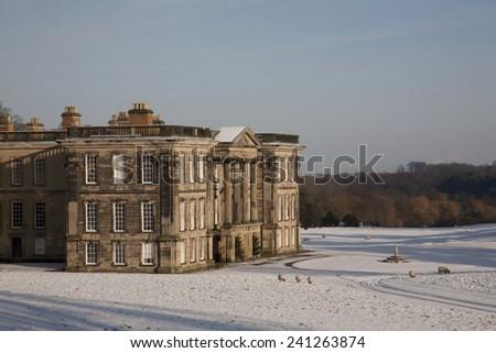 Winter At Calke Abbey - stock photo