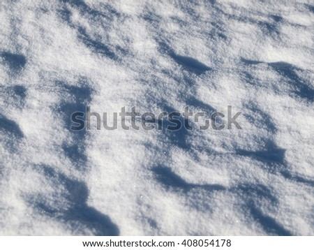 Winter Background of a Snowy Field - stock photo