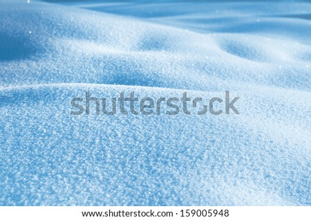 Winter background of shiny snow - stock photo
