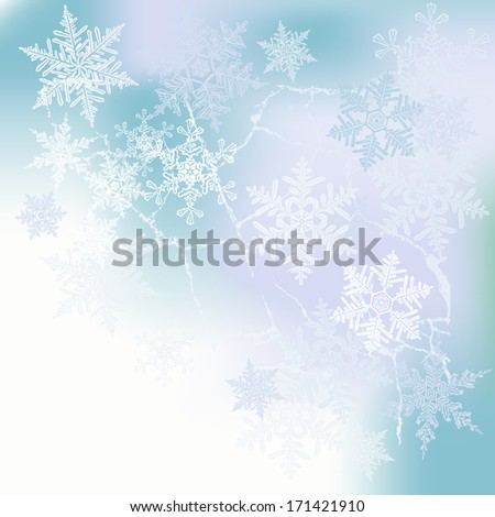 Winter background, snowflakes - illustration
