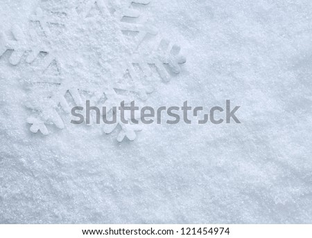 winter background with snowflake - stock photo