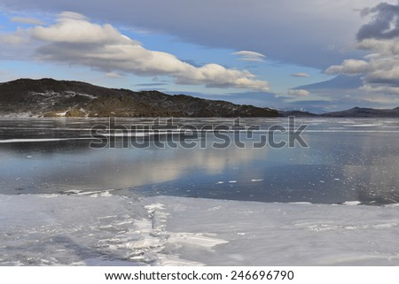 Winter Baikal - stock photo