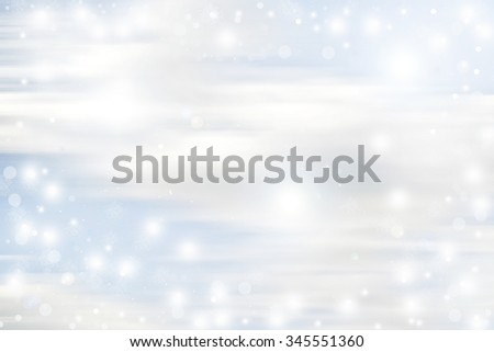 winter blue sky snow flakes backround - stock photo