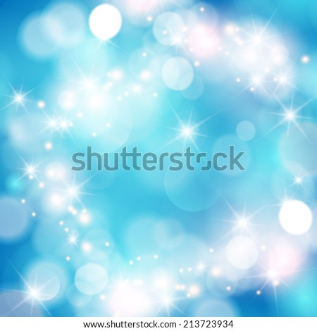 Winter bokeh background with sparkle stars.  - stock photo