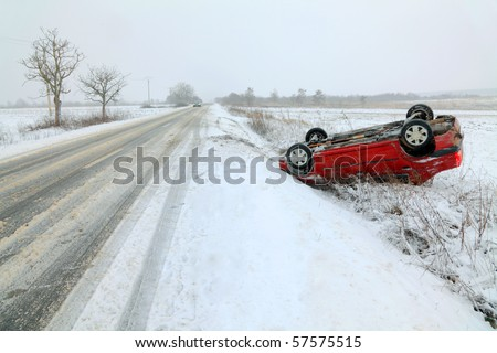 Winter car accident