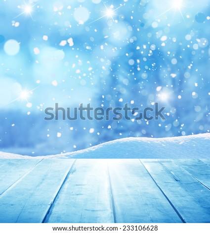 winter christmas background  - stock photo