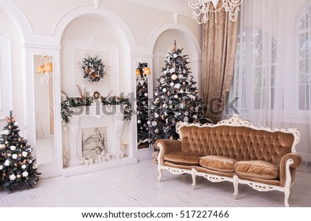 Winter Christmas Trees New Year Ornament Stock Photo & Image ...