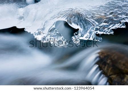 winter creek - stock photo