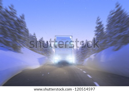 Winter Express Delivery snowy Mountain Street