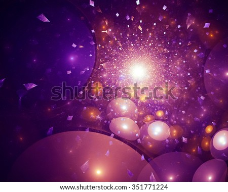 Winter expressive abstract background. Luxury spectacular backdrop. Texture consists of passages of shimmering colors.  - stock photo