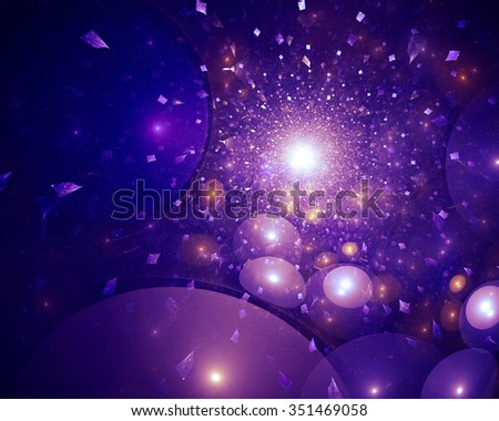 Winter fairy tale abstract background. In some places the texture much blurred. It conveys a sense of magic and celebration. - stock photo