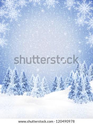 winter frame - stock photo