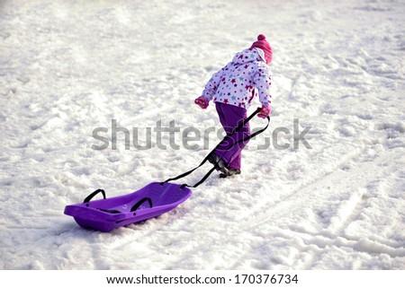 Winter fun - stock photo