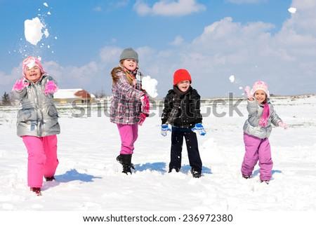 winter games in the snow/winter games in the snow - stock photo