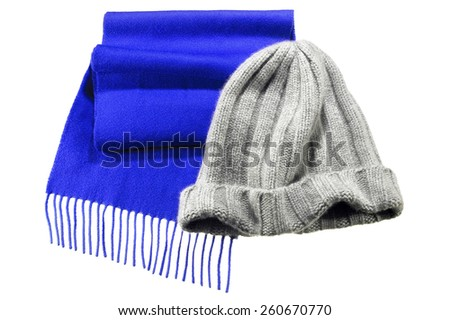 Winter Hat & Scarf - stock photo