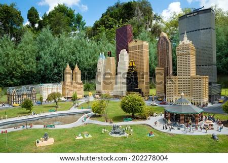 WINTER HAVEN, FL - June 18, 2014: Lego model of New York City at Legoland Florida on June 18, 2014, in Winter Haven, FL. - stock photo