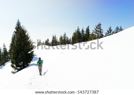 Winter Hiking at Hochries