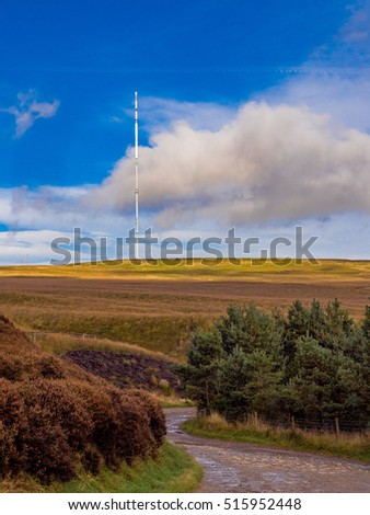 Winter Hill television mast and communication masts, Rivington, Chorley, Lancashire, UK