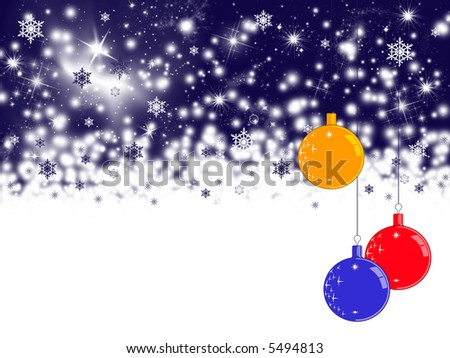 Winter holiday background with decorations