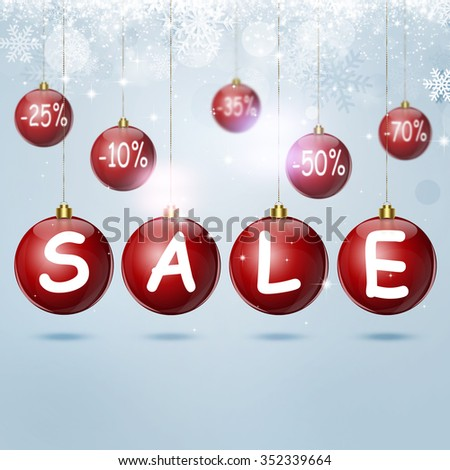 winter holiday sale background for christmas and new year cards
