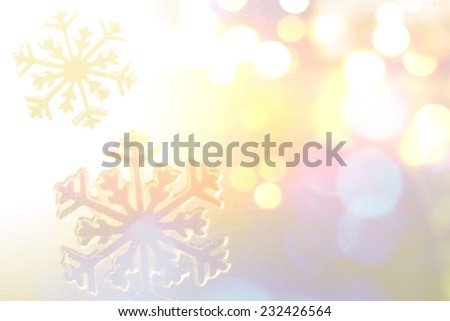 Winter Holiday Snow Background, Blue Bokeh. - stock photo