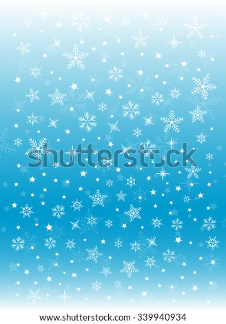 Winter Holiday Snowflakes Festive Light Blue Background