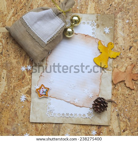 Winter holidays background with free space for inserting the text.  - stock photo