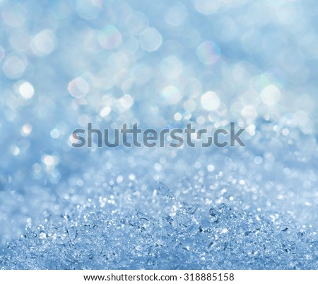 Winter icy bright background. - stock photo