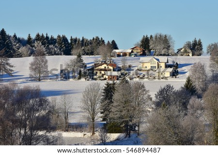 winter in Bavarian Forest in Germany