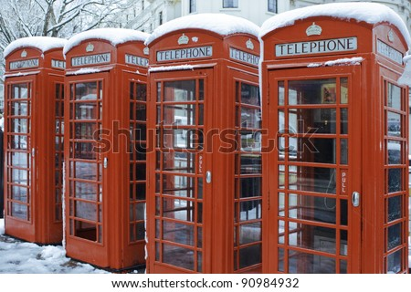 Winter in London - stock photo