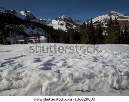 Winter in San Juan Mointains, Colorado. - stock photo