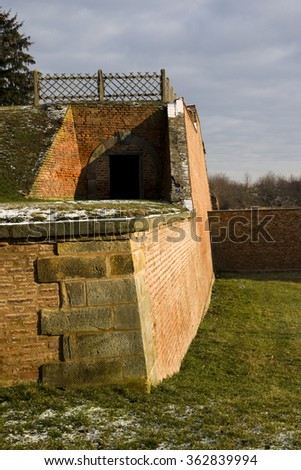 Winter in the area of Terezin Memorial