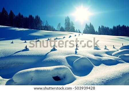 winter in the german alps, allgau