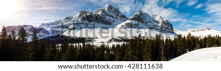 Winter in the mountains Banff National Park Alberta Canada