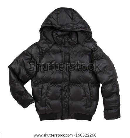 winter jacket isolated on white background  - stock photo