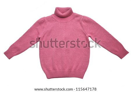 Winter knit sweater  for little girl - stock photo