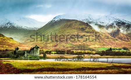 Winter landscape in Scotland - stock photo